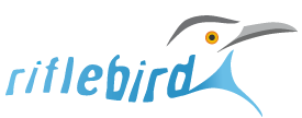 Harrogate web design Riflebird logo